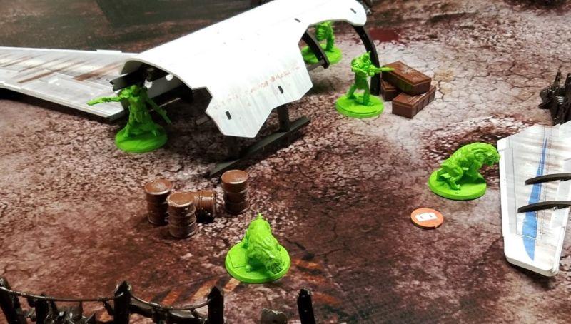 Mutants defending their camp.