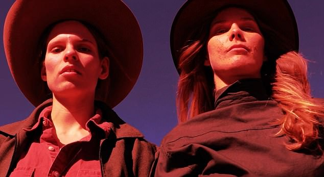 Starring : Kat Hessen (L) and Anna Newell (R) star in the short film ' The Iron Sisters'