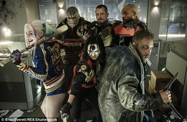 Terror team:DC's star-studded Suicide Squad debuted at No. 1 at the weekend box office earning a mega $135.1 million and smashing the record for the biggest August take