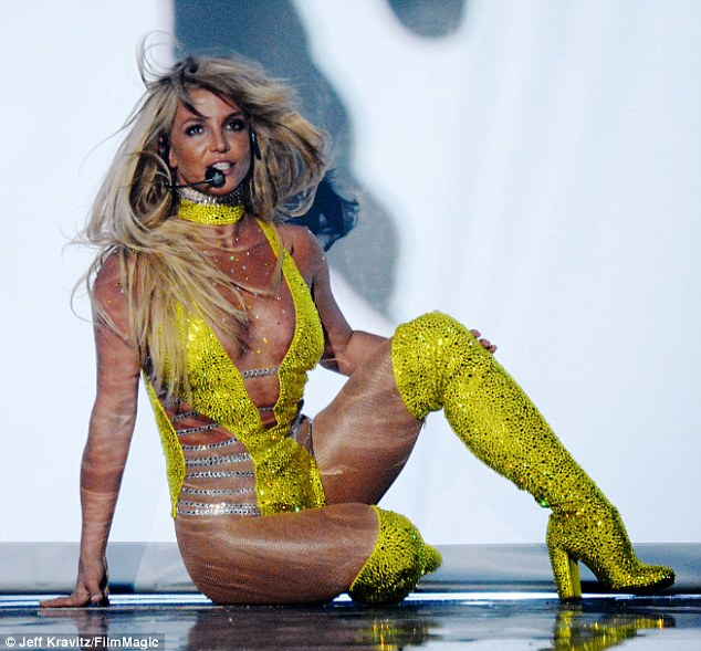 He could have seen: Britney Spears returned to the MTV VMA stage for the first time in a decade to perform her brand new single Make Me... on Sunday