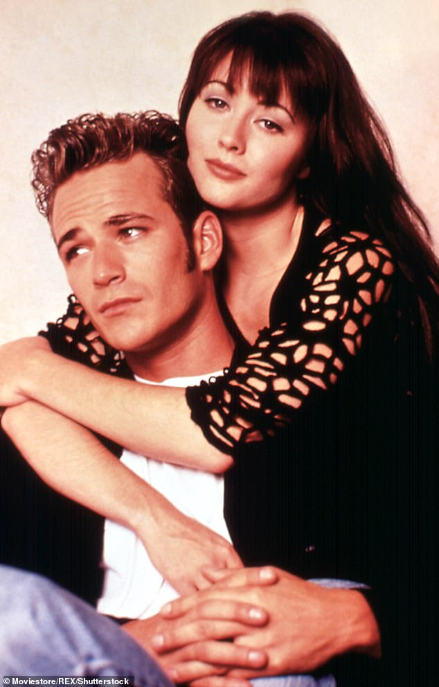 Luke Perry and Shannen Doherty in Beverly Hills 90210