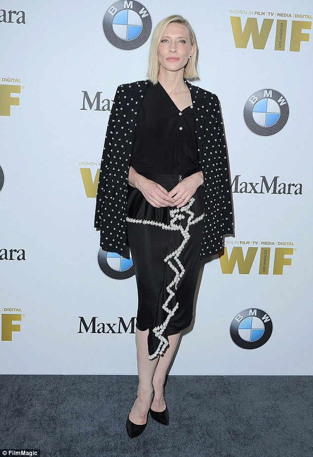 And Cate makes seven: Blanchett was one of the early members announced for the movie, which has yet to announce the eighth member of the gang