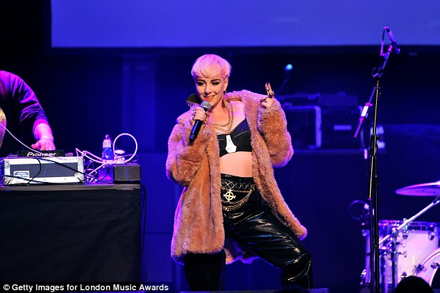 On Stage:Singer Laura Bettinson aka Femme performed at the inaugural London Music Awards