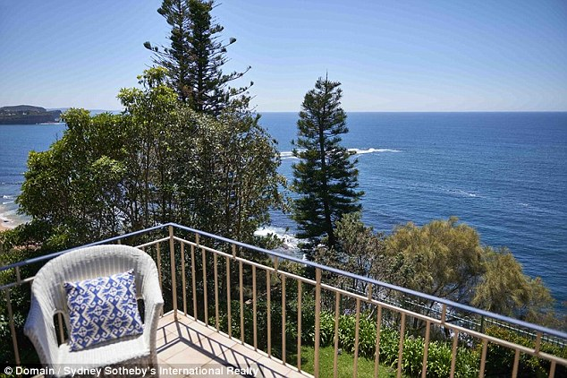 Peaceful: The new pad has an enviable view of the ocean from the top of a cliff